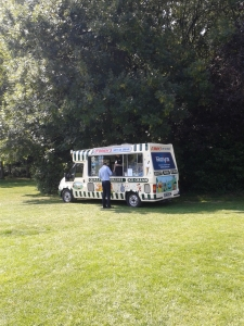 helados en Merrion Square, Dublín